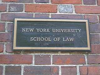 NYU Law plaque