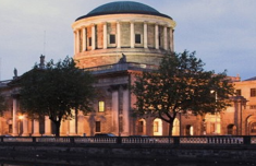 Detail of image of the Four Courts, by Darragh Sherwin on Flickr, featured on Ex Tempre