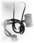 Stethescope and gavel