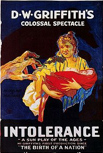 Poster for DW Griffith movie Intolerance