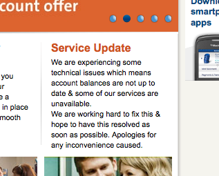 Ulster Bank Service Update