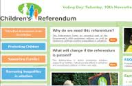 Screengrab of Children's Referendum website, formerly on merrionstreet.ie, via Google cache