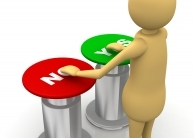 choosing between yes and no