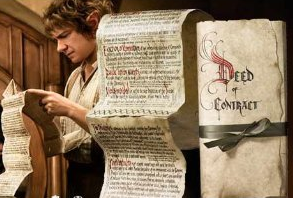 Bilbo Baggins Contract, via Amazon
