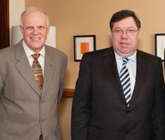 'John Hennessy and Brian Cowen, via TCD