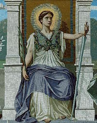 LAW, mosaic by Dielman, via Wikipedia
