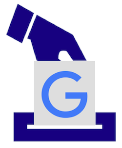 Google vote image, elements via https://pixabay.com/en/ballot-election-vote-1294935/ and https://www.google.ie/intl/en/press/images.html