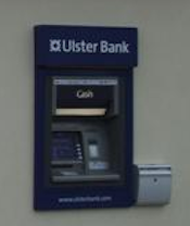 Ulster Bank ATM, element of image by Kenneth Allen on geograph