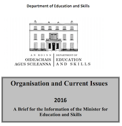 Brief for Minister of Education 2016