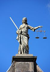 Lady Justice, Dublin Castle, via Wikipedia