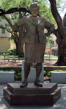 Statute of Barbara Jordan, at UT Austin, via flickr (element)