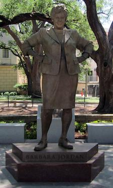 Statute of Barbara Jordan, at UT Austin, via flickr (element)
