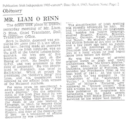 Obit for Liam O Rinn small