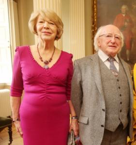 Mrs Higgins and President Higgins, via tcd.ie