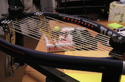 Book and racquet (element via flickr)
