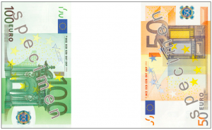 Euro notes = Irish flag (notes via https://en.wikipedia.org/wiki/Euro_banknotes)