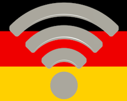 Germany wifi (German flag detail and wifi icon via Wikipedia)