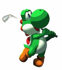 Dinosaur golfer; via Pixabay