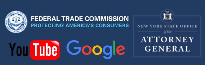 FTC NYAG Google YouTube logos