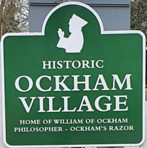 Ockham Village sign, thanks to Steven Elliott QC